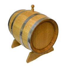 Бочка дубовая вощеную средней обжарки 3 литра