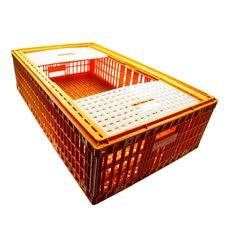 Ящик для транспортировки живой птицы с двумя верхними дверцами 96х57х27