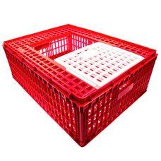 Маленький ящик для перевозки птицы с раздвижными верхней дверцей 77х57х28