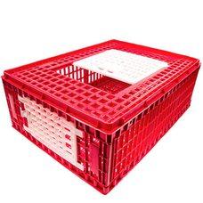 Маленький ящик для перевозки живой птицы из верхней и боковой дверцей 77х57х29