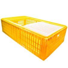 Узкий ящик для перевозки птицы с раздвижными верхней дверцей 95х54х27