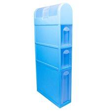 Пластиковый шкаф для ванной комнаты (голубой)