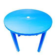Пластиковый круглый стол (синий)