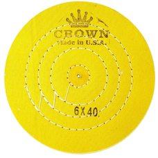 Круг муслиновый CROWN желтый d-150 мм, 40 слоев