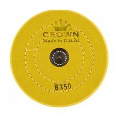 Круг муслиновый CROWN желтый d-150 мм, 50 слоёв