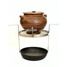 Сетка для армянского тандыра с супником из красной глины
