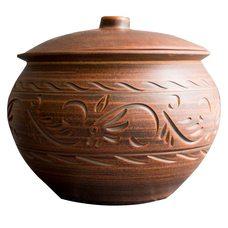 Глиняный горшочек (глечик) из обожженной керамики, 3 литра для таджикского тандыра