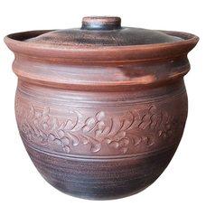 Глиняный горшочек (глечик) из обожженной керамики, 4 литра для таджикского тандыра