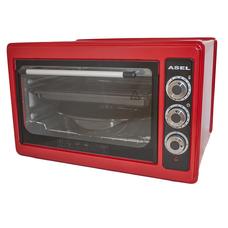 Asel AF 0023 настольная электродуховка 33л красного цвета