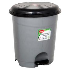 Ведро для мусора с педалью Planet №3 12 л металлик