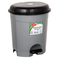 Ведро для мусора с педалью Planet №2 6 л металлик