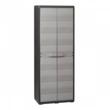Шкаф 2-х дверный с полочками Elegance S Toomax черный серый