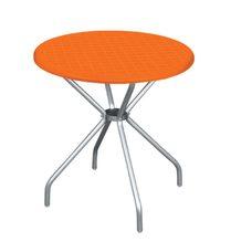 Стол круглый Irak Plastik Beta 80 оранжевый