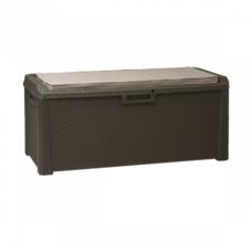 Сундук пластиковый Santorini Plus 550 л коричневый с подушкой Toomax