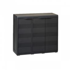 Шкаф низкий 3-х дверный Elegance S Toomax черный