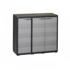 Шкаф низкий 3-х дверный Elegance S Toomax черный серый