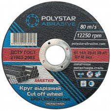 Круг отрезной по металлу Polystar Abrasive 125 1,0 22,23