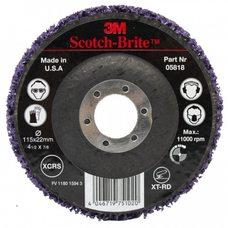 Круг зачистных фиолетовый на основе 3M Scotch-Brite d-115 мм