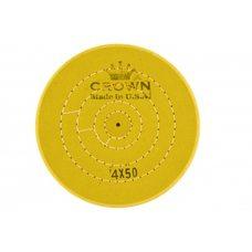 Круг муслиновый CROWN желтый d-100 мм, 50 слоев