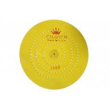 Круг муслиновый CROWN желтый d-175 мм, 60 слоев