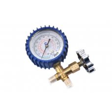 Манометр низкого давления QingXin CT-466GF / L, 0-8 бар (под R-12 / R-22 / R-502), с краном