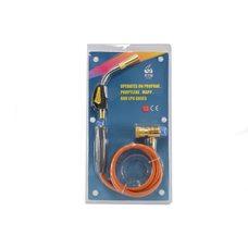 Сварочная горелка для пайки МАПП-газом RTM 1S 660  (со шлангом и пьезоподжигом)