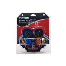 Коллектор заправочный HongSen 2-вентильный HS-410A-P на упаковке в резиновой оплетке