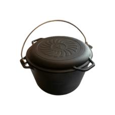 Казан чугунный 8 л с крышкой-сковородой