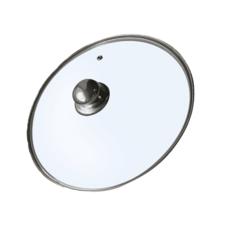 Крышка стеклянная с металлическим ободком, Ø 28 см