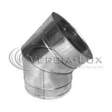 Колено дымоходные 45 ° нерж / оцинк ø220 / 280мм 0,8мм