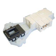 Замок люка (двери) для стиральных машин Indesit / Ariston (C00085194) (Белый длинный с Т-блочками)