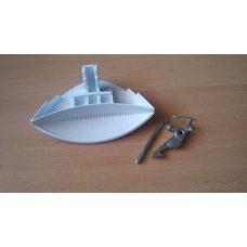 Ручка люка стиральной машинки Indesit / Ariston (С00075323) Kитай (капля)