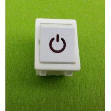 Кнопка вкл / выкл одинарная POWER модель S12411 / 16А / 250V (со светодиодом) БЕЛАЯ   SETEL, Турция