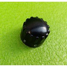 Ручка черная №4 пластиковая для переключателей мощности, таймеров, терморегуляторов (OFF 1-5)   Турция