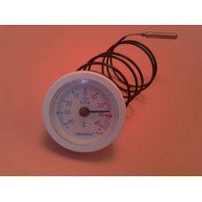 Термометр капиллярный PAKKENS Ø52мм / от -40 до + 40 ° С / длина капилляра L = 1м Турция