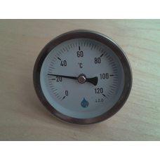 """Термометр биметаллический трубчатый AIM Ø63мм от 0 до 120 ° С, гильза L = 60 мм (с резьбой 1/2 """") Польша"""