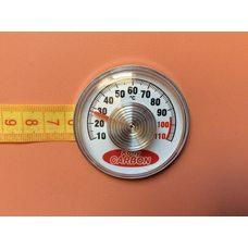 Термометр на самоклейке Kotly CARBON - Ø55мм / Т max = 110 ° С Украиной