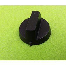 Ручка черная №2 пластиковая для переключателей мощности, таймеров, терморегуляторов   Китай