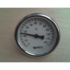 "Термометр биметаллический трубчатый WATTS Ø63мм от 0 до 120 ° С, гильза L = 50 мм (с резьбой 1/2 "") Германия"