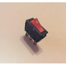 Кнопка вкл / выкл одинарная (УЗКАЯ) 16А / 250V / T125 (со светодиодом) КРАСНАЯ    Турция