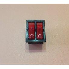 Кнопка вкл / выкл ДВОЙНАЯ модель S13113 / 16А / 250V / T125 (со светодиодом) КРАСНАЯ    SETEL, Турция