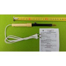 Паяльник бытовой электрический 65 Вт / 220В с деревянной ручкой