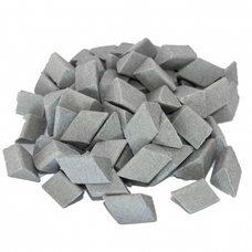 Галтовочные тела (наполнитель для галтовки) керамический скошенный треугольник №14 15х18 мм (RMВ/D1 15/18 S)