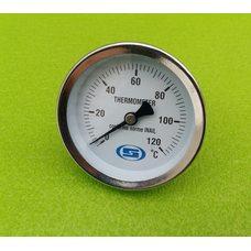 "Термометр биметаллический трубчатый GROSS Ø63мм / Tmax = 120 ° С / латунная гильза L = 50мм (на резьбе 1/2 "") Китай"