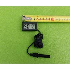Влагомер-гигрометр с термометром-градусником цифровой (на батарейках) для инкубаторов - ЧЕРНЫЙ   Китай