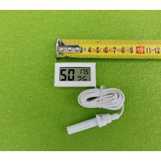 Термометр-градусник с влагомерами-гигрометром цифровой (на батарейках) для инкубаторов - БЕЛЫЙ Китай