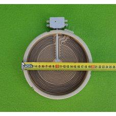 Электроконфорка Heatwell - Ø200мм (D8765) / 1700W (спирали 1000W+700W) / 230V (на 5 контактов) для электроплит